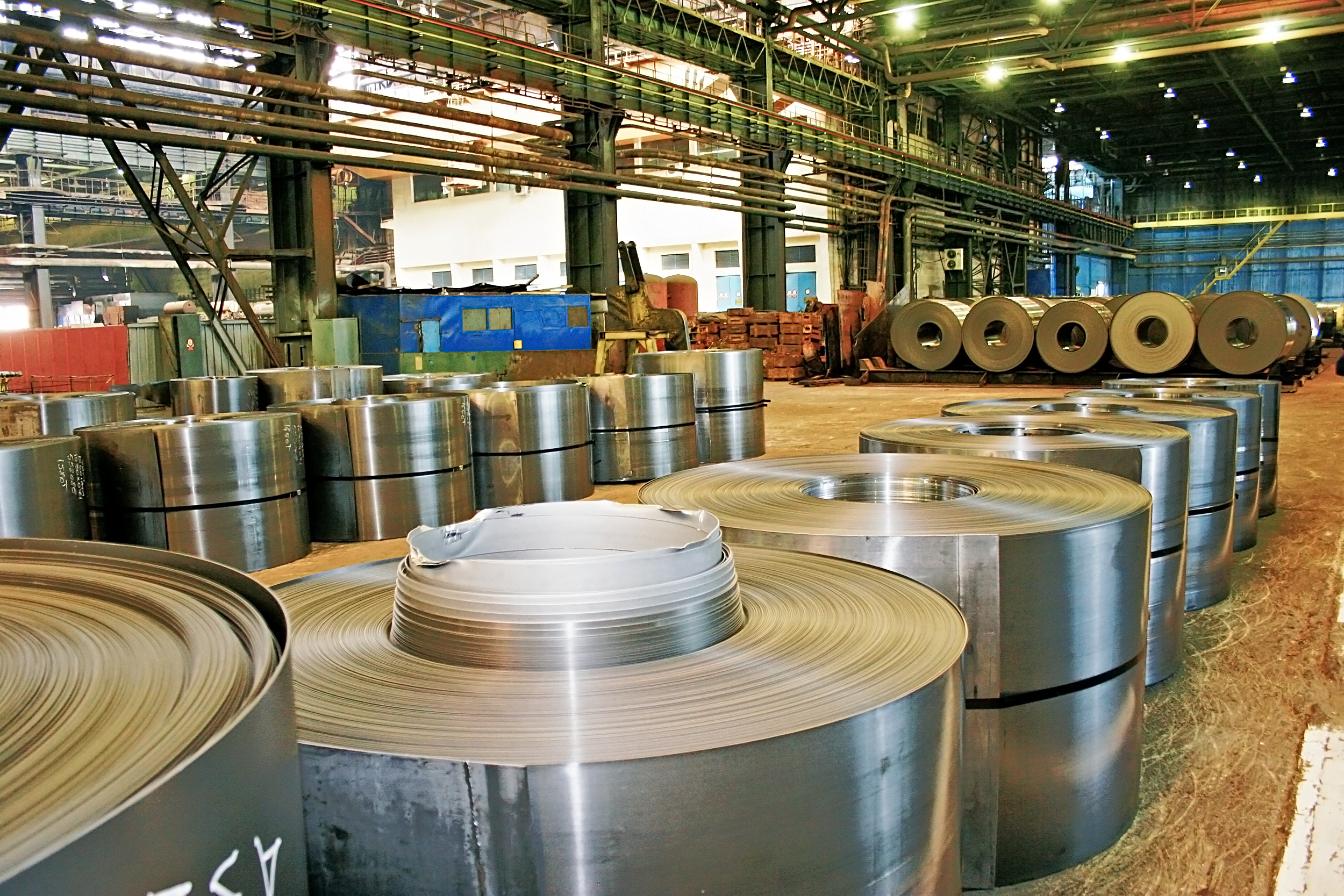 different sizes of rolled steel